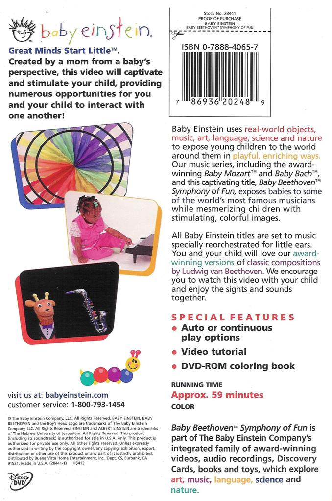 Baby Einstein ~ Baby Beethoven ~ Symphony of Fun ~ DVD ...