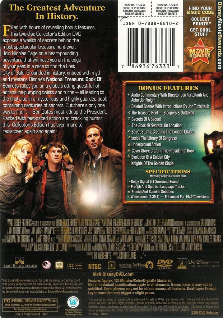 National Treasure 2 - Book of Secrets - 2-Disc Collector's ...