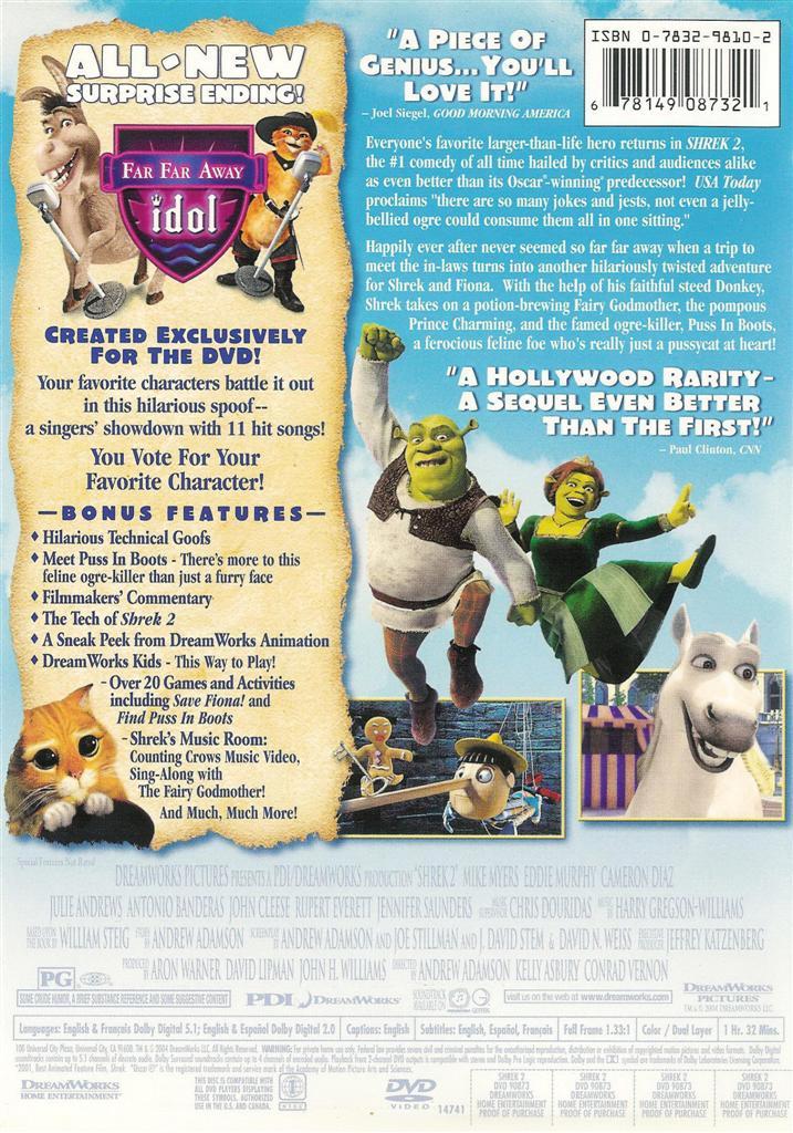 Imagespace Shrek 2 Dvd Gmispace Com