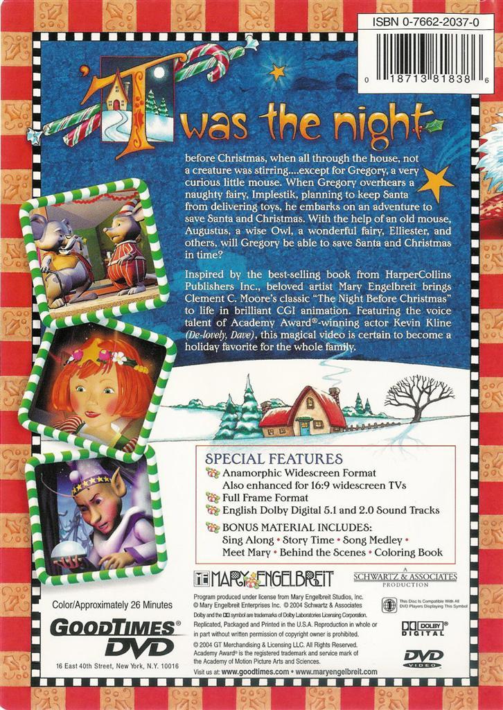 The Night Before Christmas - DVD 18713818386 | eBay