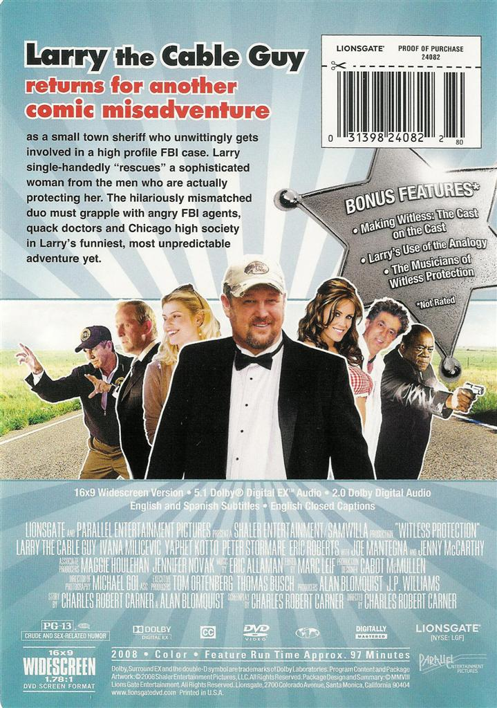 Details about Witless Protection - Larry the Cable Guy - DVDWitless Protection