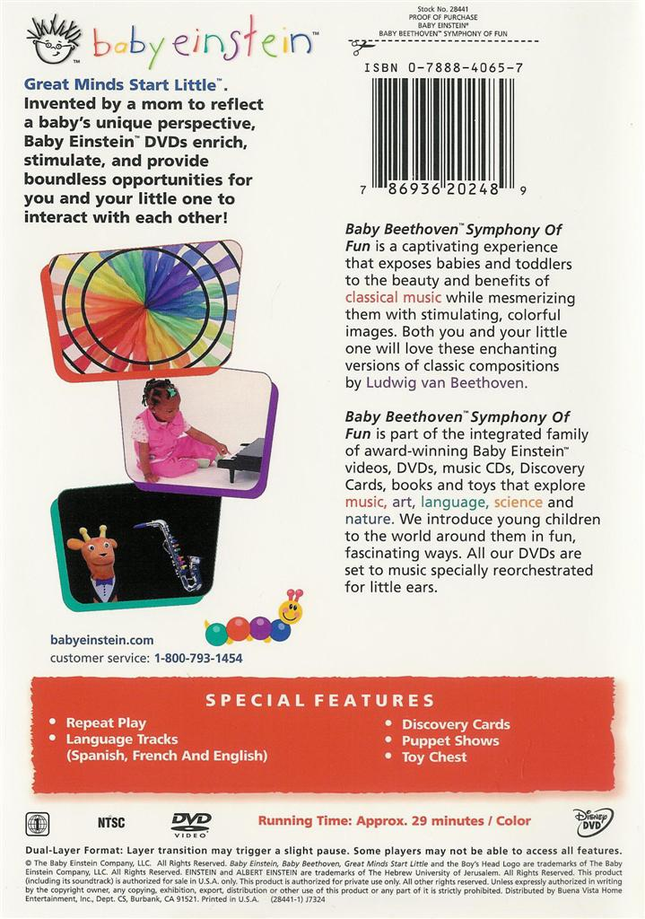 Baby Einstein ~ Baby Beethoven ~ Symphony of Fun ~ DVD