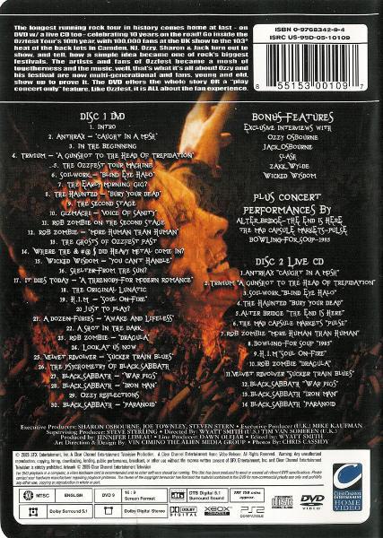 dvd ozzfest 2005