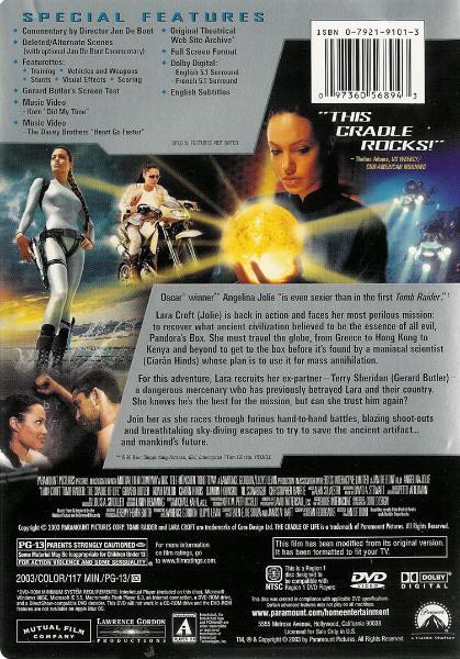 Lara Croft Tomb Raider: The Cradle of Life - DVD ...