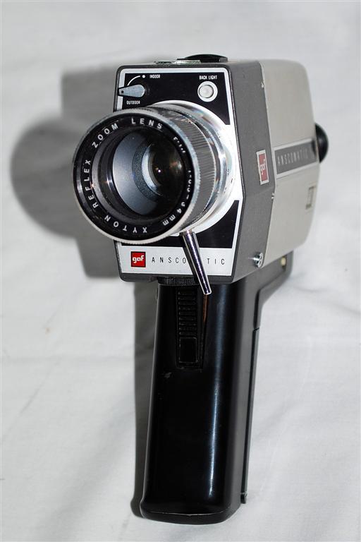 vintage gaf anscomatic st 88 super 8 movie camera with original box free shipp ebay. Black Bedroom Furniture Sets. Home Design Ideas